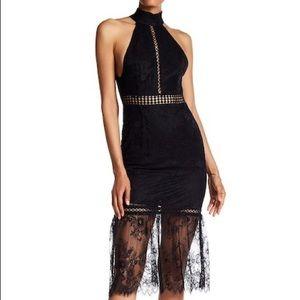 ABS by Allen Schwartz Victorian Lace Midi Dress